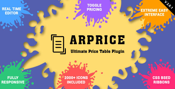 Download Free ARPrice v2 6 1 – Responsive Pricing Table