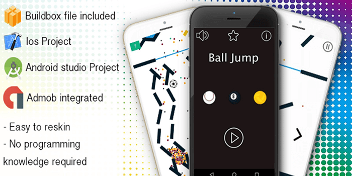 Download Free Ball Jump – Android Buildbox Game Template
