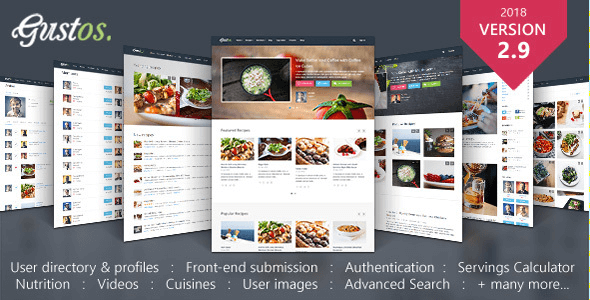 Download free gustos v293 community driven food recipes download free gustos v293 wordpress theme v293 forumfinder Gallery
