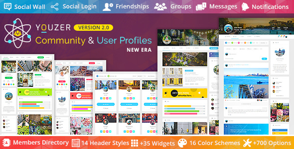 youzer - buddypress community & wordpress user profile plugin free download