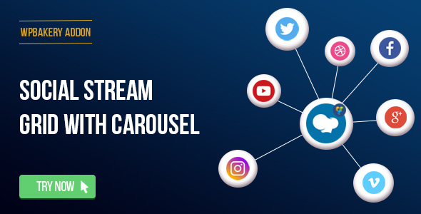 Download Free WPBakery Page Builder - Social Streams With Carousel