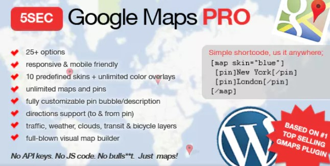Download Free 5sec Google Maps Pro v1.4.3 - ThemesFreeDownload.net on